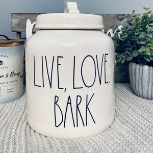 NWT Rae Dunn LIVE LOVE BARK Canister